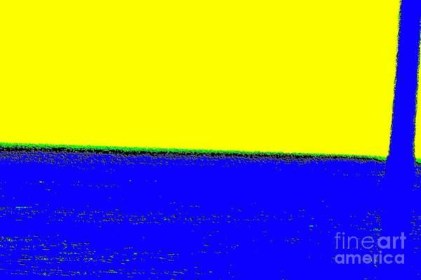Amarillo Digital Art - Paisaje Blue Yellow by Eliso Ignacio Silva