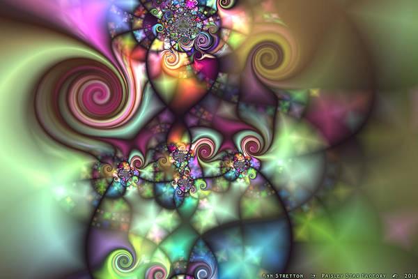 Digital Art - Paisley Star Factory  by Ann Stretton