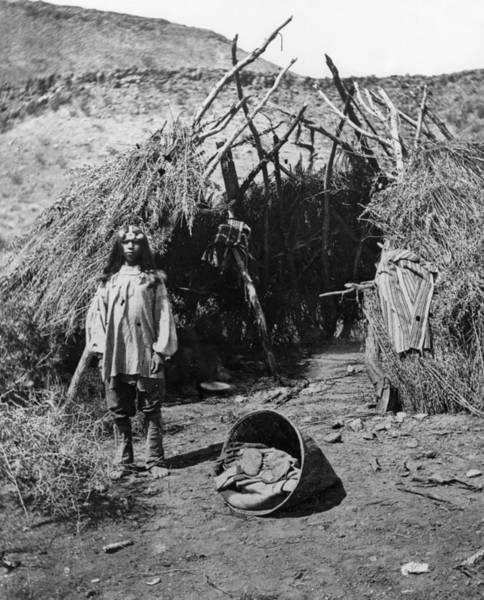 Lean-tos Photograph - Paiute Dwelling, C1873 by Granger