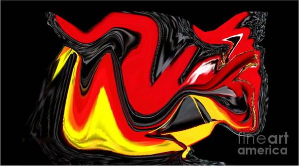 Amarillo Digital Art - Pajaro Loco by Sonia Morera