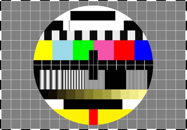 Television Program Digital Art - Pal Tv Testing 2 by Saad Hasnain