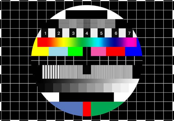 Television Program Digital Art - Pal Tv Testing by Saad Hasnain