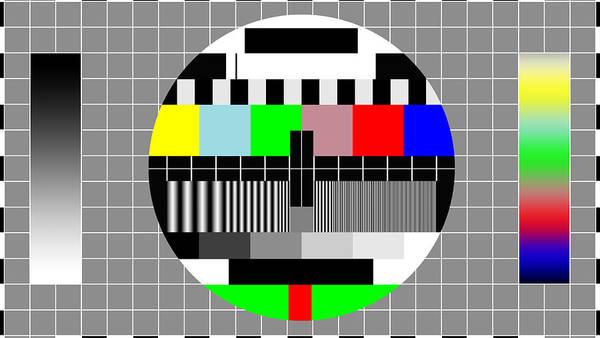 Television Program Digital Art - Pal Tv Testing Widescreen by Saad Hasnain