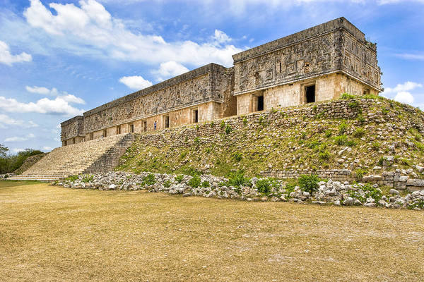 Photograph - Palace At The Mayan Ruins Of Uxmal by Mark E Tisdale