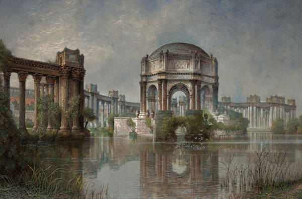 Pantheon Wall Art - Painting - Palace Of Fine Arts And The Lagoon by Edwin Deakin