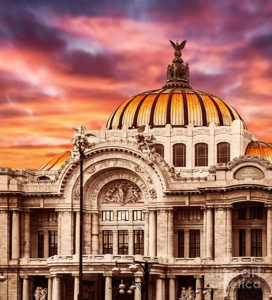 Arte Photograph - Palace Of Fine Arts In Mexico City by Anna Om