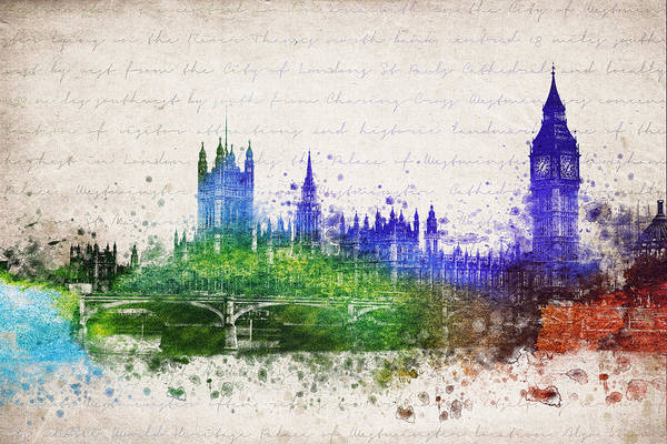 Big Ben Digital Art - Palace Of Westminster by Aged Pixel
