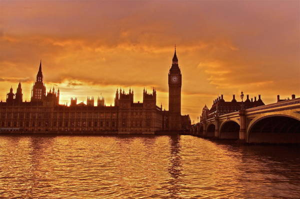 Houses Of Parliament Wall Art - Photograph - Palace Of Westminster by By Andrea Pucci