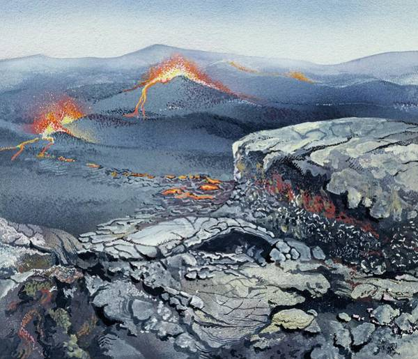 Northern Ireland Photograph - Palaeocene Volcanic Landscape by Natural History Museum, London/science Photo Library