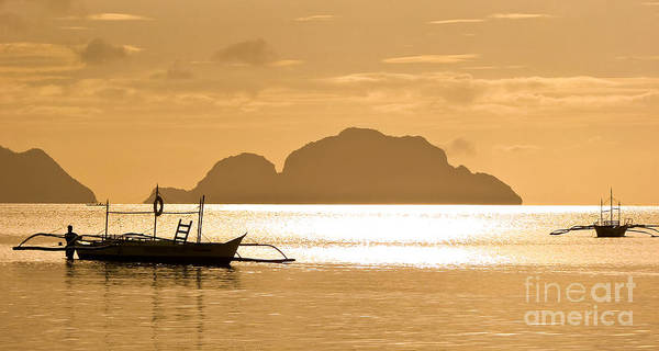 Boat Silhouette Wall Art - Photograph - Palawan Sunset by Delphimages Photo Creations