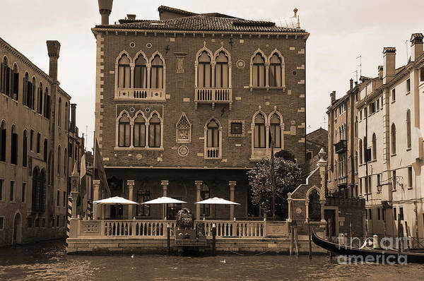 Lion Of St Mark Photograph - Palazzo On The Grand Canal by Brenda Kean