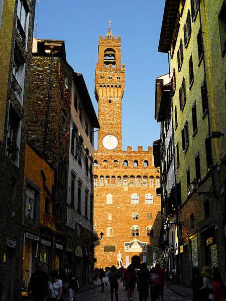 Photograph - Palazzo Vecchio In Florence Italy by Irina Sztukowski