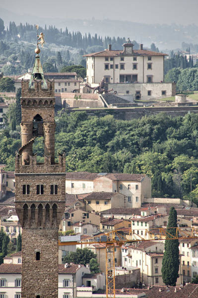Photograph - Palazzo Vecchio Tower And Forte Belvedere by Melany Sarafis