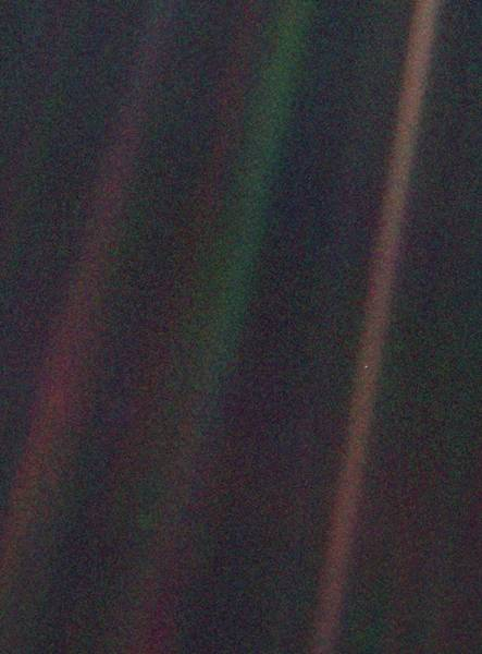 Pale Blue Dot Art Print by Nasa/science Photo Library