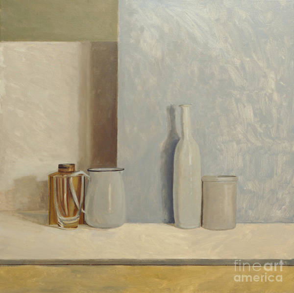 Still Painting - Pale Grey And Blue  by William Packer
