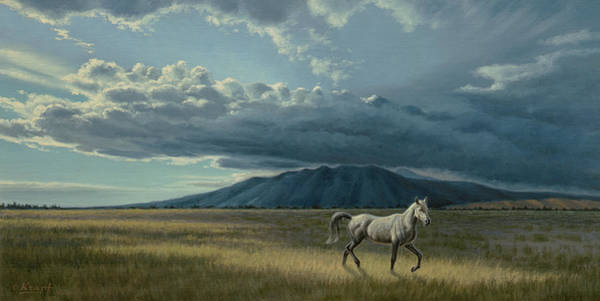 Colorado Landscape Painting - Pale Horse by Paul Krapf