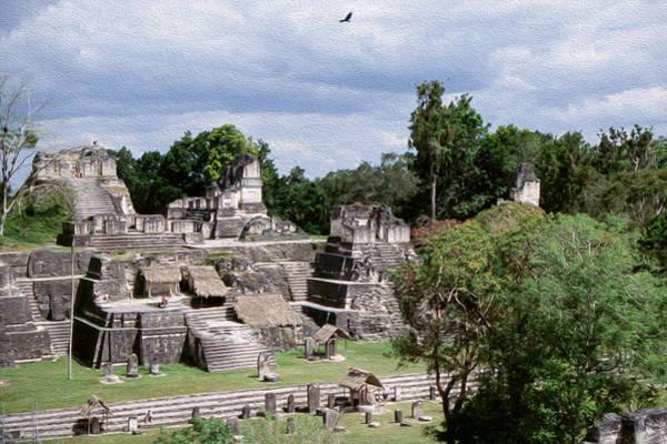 Chichen Digital Art - Palenque Ruins by Roy Pedersen