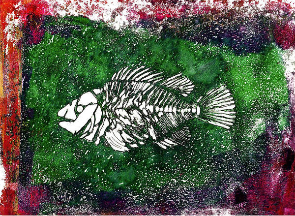 Painting - Paleo Fish #2 by Bellesouth Studio
