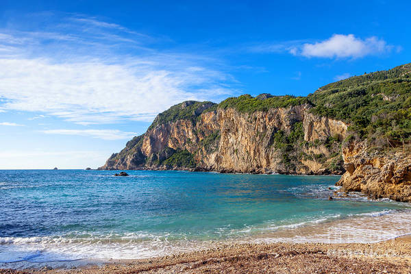 Photograph - Paleokastritsa Beach And Cliffs by Paul Cowan