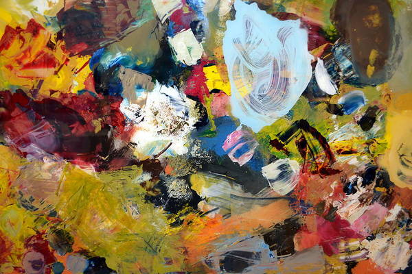Blob Painting - Palette Abstract by Michelle Calkins