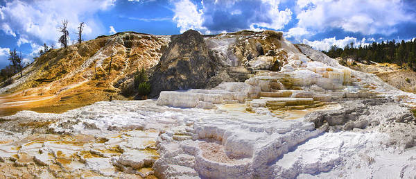 Palette Photograph - Palette Spring Terrace Panorama - Yellowstone National Park Wyoming by Brian Harig