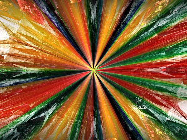 Palette Wheel Art Print by Janet Russell