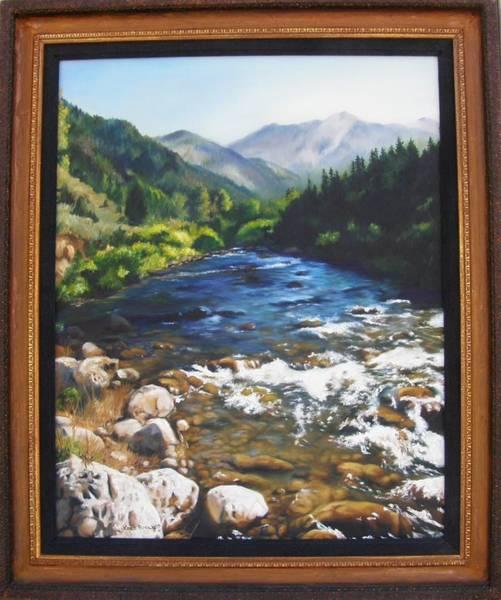 Painting - Palisades Creek Framed by Lori Brackett