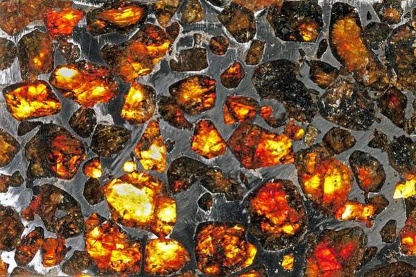 Wall Art - Photograph - Pallasite Meteorite by Science Photo Library