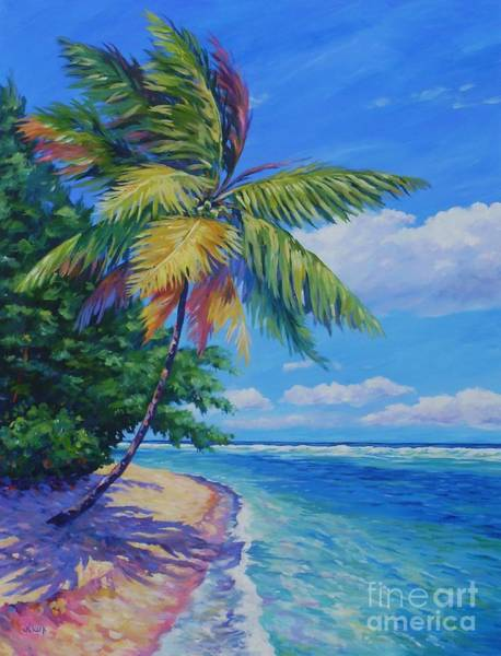 John Clark Wall Art - Painting - Palm At The Water's Edge by John Clark
