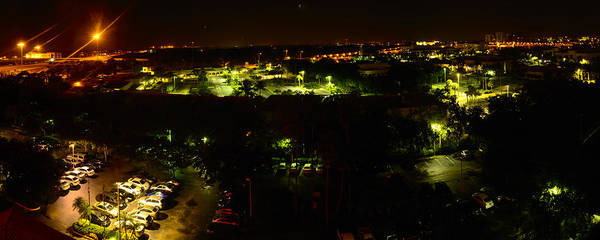 Photograph - Palm Beach Gardens View From The Marriott At Night by Richard Henne