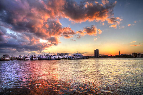 Photograph - Palm Beach Harbor With West Palm Beach Skyline by Debra and Dave Vanderlaan