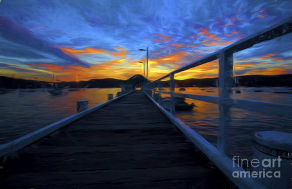 Wall Art - Photograph - Palm Beach Wharf At Sunset by Sheila Smart Fine Art Photography