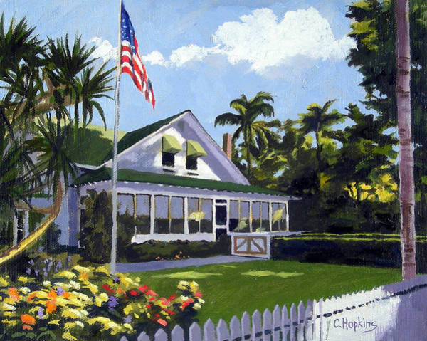 Wall Art - Painting - Palm Cottage Naples Florida by Christine Hopkins