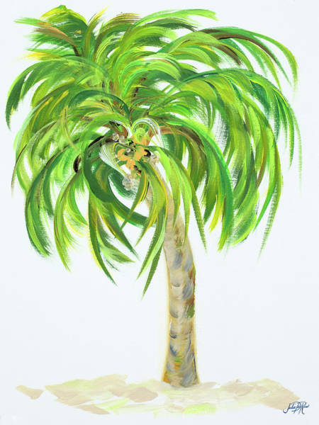 Tropical Mixed Media - Palm Days IIi by Julie Derice