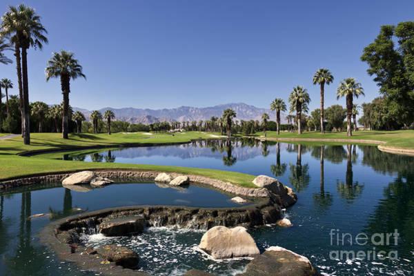 Golf Course Photograph - Palm Desert Golf Course Landscape by Sheldon Kralstein