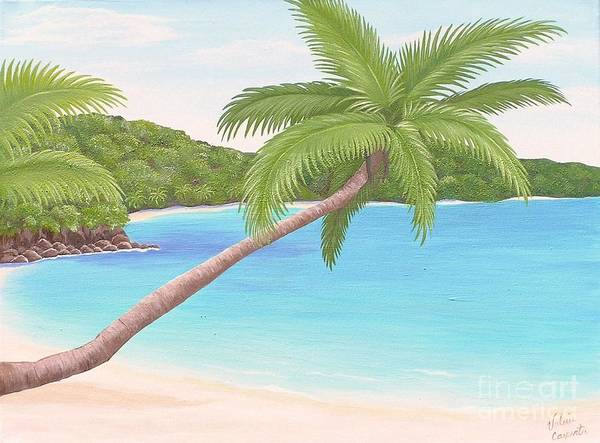 Us Virgin Islands Painting - Palm In Paradise by Valerie Carpenter