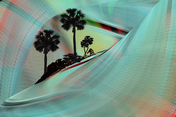 Digital Art - Palm Island Abstract by rd Erickson