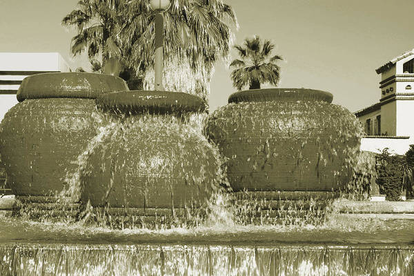 Photograph - Palm Springs Fountain by Ben and Raisa Gertsberg