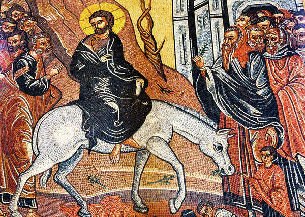 New Testament Photograph - Palm Sunday Mosaic, Saint George's by William Perry