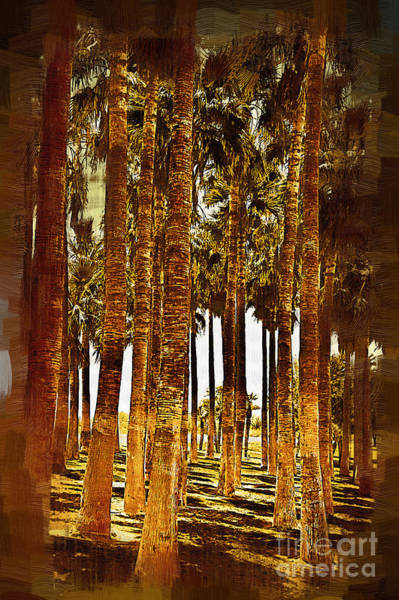 Palm Frond Digital Art - Palm Tree Grove by Kirt Tisdale