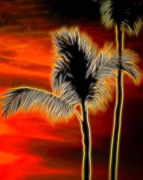 Mixed Media - Palm Tree by Pamela Walton