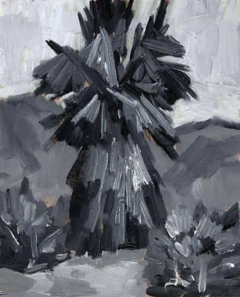 Tonal Wall Art - Painting - Palm Tree Study by Diane McClary