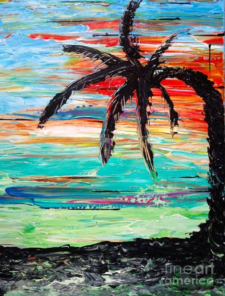 Painting - Palm Tree Sunset by Jacqueline Athmann