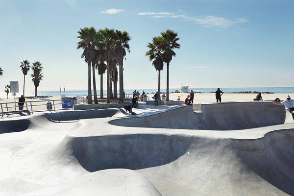 Skateboard Photograph - Palm Trees At Skate Park On Beach by Cultura Rm Exclusive/robin James