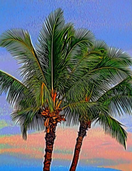 Mixed Media - Palm Trees by Pamela Walton