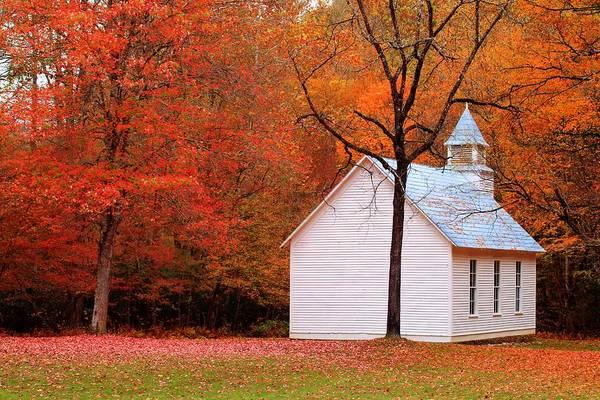 Photograph - Palmer Chapel During Fall by Carol Montoya