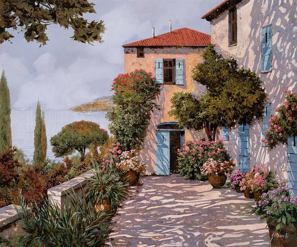 Terraces Wall Art - Painting - Palmette Viola by Guido Borelli
