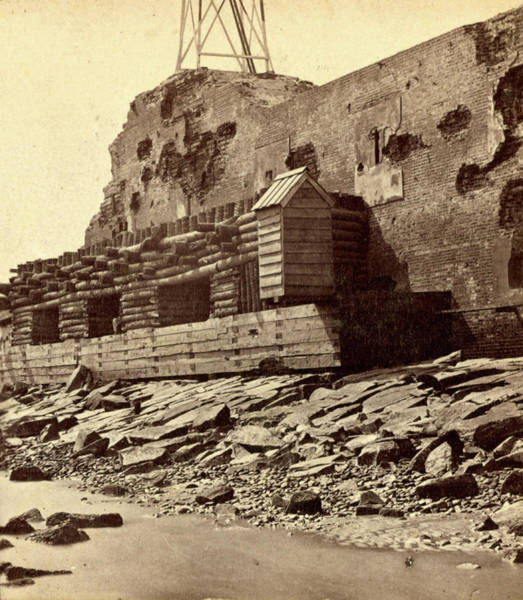 Fort Sumpter Photograph - Palmetto Fortifications On The Channel Side Of Fort Sumpter by Litz Collection