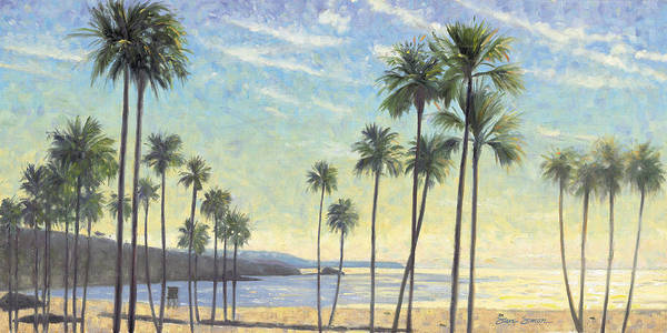 Wall Art - Painting - Palms Bursting In Air by Steve Simon