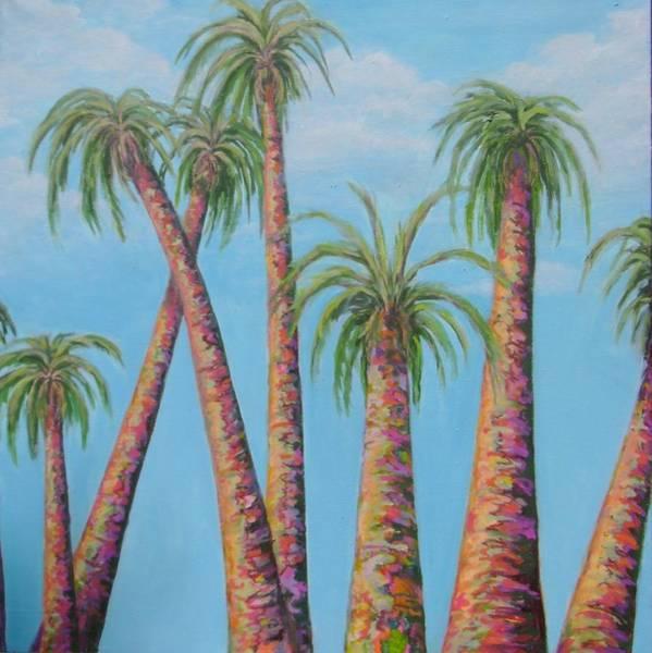 Utilitarian Painting - Palms In The Hawaiian Sun by Cris Johnson